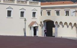 Sentinella del palazzo reale di Monte Carlo, Monaco fotografia stock libera da diritti