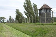 Sentinelle de Birkeneau Auscwitz Photos stock