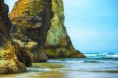 Sentinelles géantes à la plage d'Arcadie Photographie stock libre de droits