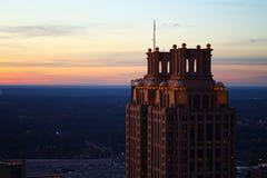 The Sentinels. Atlanta& x27;s southern Buildings at dusk Stock Image