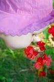 Sentire l'odore dei fiori Fotografie Stock Libere da Diritti