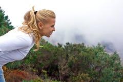 Sentire l'odore delle nubi Fotografia Stock