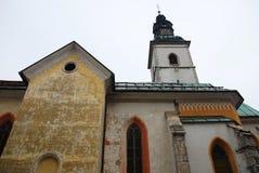 Sentjakobkerk in Skofja Loka Stock Foto