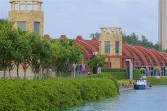 Sentosa ö i Singapore arkivbilder