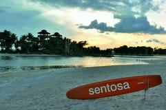 sentosa Σινγκαπούρη νησιών παραλιών Στοκ Εικόνα