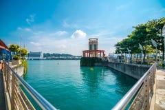 Το τοπίο του πύργου στο νησί Sentosa στη Σιγκαπούρη στοκ εικόνα με δικαίωμα ελεύθερης χρήσης