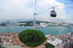 空中前港口sentosa新加坡视图 库存图片