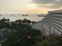 Sentosa hotel view Royalty Free Stock Images