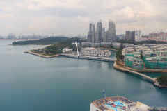 Sentosa island in bird eye view Stock Photo