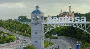 Sentosa Island Entrance  Royalty Free Stock Photos