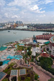 Sentosa island and port of Singapore Royalty Free Stock Photography