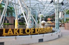 Sentosa island Singapore. Lake of Dreams Royalty Free Stock Images