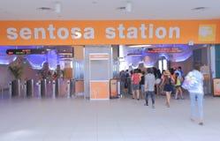 Sentosa Island train station Singapore Stock Photos