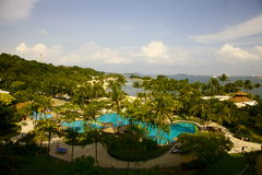 Sentosa island  view Royalty Free Stock Photo