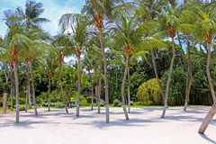 Sentosa Island. A view from one of the most beautiful and peaceful beaches in Sentosa Island Stock Photo