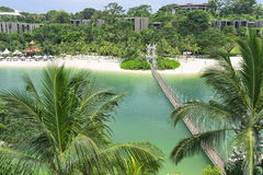 Sentosa Palawan strand Royaltyfria Foton