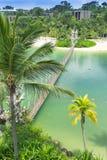 Sentosa Palawan strand Arkivfoto