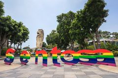 Sentosa Merlion - Singapore Stock Images