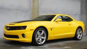 SENTOSA, SINGAPUR - 12 DE ABRIL DE 2016: Leva de Chevrolet de los TRANSFORMADORES Fotos de archivo