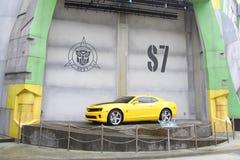 SENTOSA, SINGAPUR - 12 DE ABRIL DE 2016: Leva de Chevrolet de los TRANSFORMADORES Fotografía de archivo libre de regalías