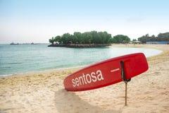 Sentosa Strand, Singapur Lizenzfreies Stockfoto