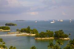 Sentosa wyspy widok Zdjęcia Stock