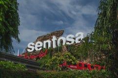 Sentosaeilanden en zijn monorail stock afbeeldingen