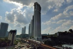 The Sentral Residences. Is a serviced residence, located at KL Sentral, Kuala Lumpur, Malaysia royalty free stock photo