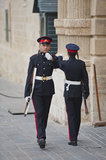 Sentries at Grandmasters Palace, Valletta Stock Images