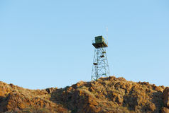 Sentry boundary tower Royalty Free Stock Images