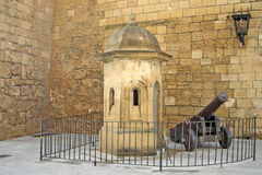 Sentry box with cannon Royalty Free Stock Images