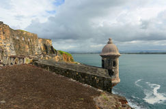 Sentry Box at Castillo San Felipe del Morro, San Juan Stock Image