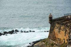 Sentry Box at Castillo San Felipe del Morro, San Juan Stock Photography