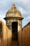 Sentry box III. A sentry box at San Cristobal Fort Stock Photo