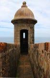 Sentry Box of a Stone Fort Old San Juan, Puerto Rico Royalty Free Stock Photos