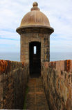 Sentry Box of a Stone Fort Old San Juan, Puerto Rico Royalty Free Stock Photos