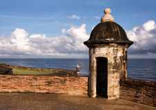 Sentry Boxes of Old San Juan Royalty Free Stock Photo