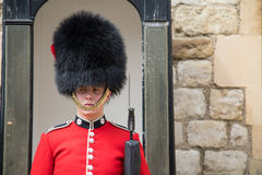 Sentry guard at the Tower of London Stock Photography