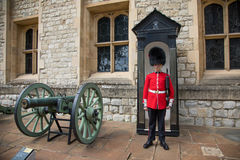 Sentry guard at the Tower of London Royalty Free Stock Photos