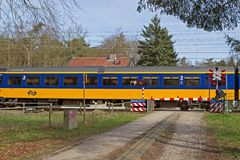 Sentry of the railways in Baarn Stock Photos