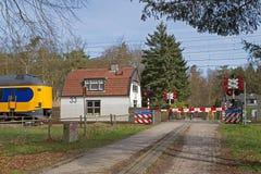 Sentry of the railways in Baarn. Netherlands Stock Image