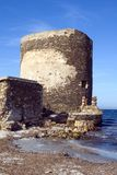Sentry serf tower on coast - 2. Sentry military serf tower on coast, Sardinia, Stintino - 2 Royalty Free Stock Photography