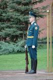 Sentry stands at the Eternal Flame. Moscow. Russia Stock Images