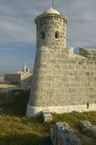 Sentry tower at El Morro Fort, Castillo del Morro, in Havana, Cuba Stock Photo