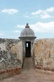 Sentry Tower in Old San Juan Royalty Free Stock Image