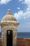 Sentry Tower in Old San Juan Stock Photo