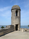 A sentry watch tower in St Augustine Fort. Stock Photos