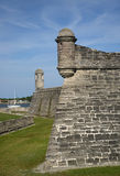 Sentry watch towers at St Augustine Fort. Stock Photos