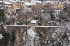 Sentrybox op de brug, Ascoli Piceno Royalty-vrije Stock Afbeelding