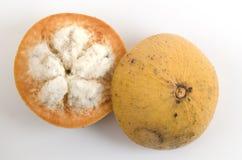 Sentul, Santol, Rode sentol, Gele sentol (Sandoricum koetjape (Burm F ) Merr ) Royalty-vrije Stock Foto's